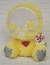 SKELANIMALS Yellow QUACKEE Toy PLUSH Furry FUZZY Yellow DUCK Red HEART Duckling