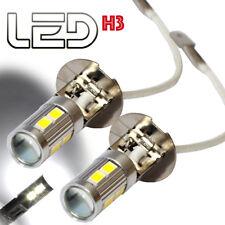 2 lampadine H3 fari giorno diurno via Antinebbia LED cree Lens Bianco LED luce