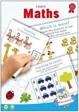Maths & Numbers Learn Mathematics Wipe-Clean Worksheet Pen Kids Educational Book