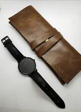 Cluse Uhr Schwarz mit Tasche- Neuwertig guter Zustand