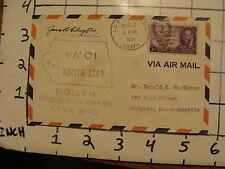 Vintage Envelope: aug 27, 1947 LOST NATION upside down SIGNED #1