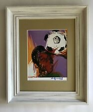 """ANDY WARHOL ORIGINAL 1984 SIGNED """" PELE """" PRINT MATTED 11X14 + BUY IT NOW!"""
