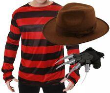 Freddy Freddie Burning Burned Man Halloween Fancy Dress Costume Jumper Hat Glove