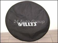 Jeep Wrangler spare tire cover, Willys Logo for 255/70 & 255/75 TIRES 82214219