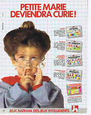 PUBLICITE ADVERTISING 064 1983 NATHAN  Petite Marie deviendra Curie jeux