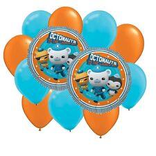 Mylar Latex Party Balloon Set - Octonauts - Orange Light Blue (12)