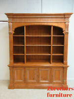 Ethan Allen Bookcase Library Cabinet  Legacy Arch china cabinet hutch Display