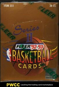 1992-93 Fleer Basketball Series 2 Factory Sealed Box, 36ct Shaquille Rookie Year