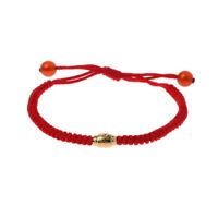 Handmade Kabbalah Red String Evil Eye Protection Bracelet with Lucky Gold Beads
