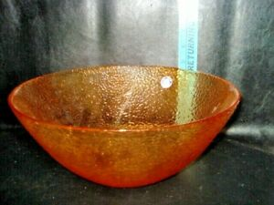 "10 1/2"" Vitrocolor Recycled Glassware Bowl LARGE ROUND Made in Spain Studio"
