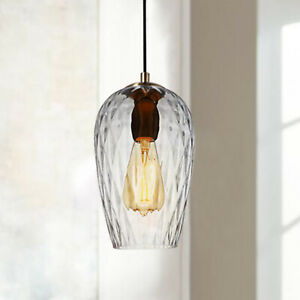 E27 Classic Fashion Glass Pendant Light Hammered Frosted Modern Style Bar W/bulb