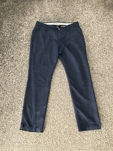 Under Armour Men's Matchplay Tapered Golf Trousers Navy Blue W36 L32