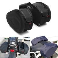 58L Paar Satteltaschen Multifunktionale Motorrad Gepäcktaschen Koffer Schwarz
