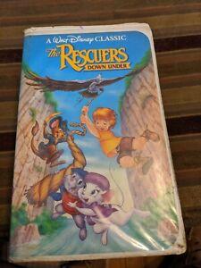 Disney-The Rescuers Down Under (Black Diamond) VHS (Rare Paper Label)