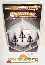 "Wasp Archery-Hammer Broadheads-100 Grain-1 3/16"" Cutting Dia.-#7100"