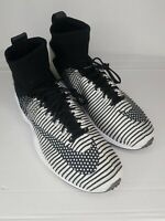 Nike Air Zoom Mercurial XI FC [852616-002] Black White Mens Size 10.5 A6