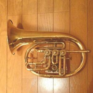 CLEMENS GLIER Coulohorn Rotary Flugelhorn Yellow no lacquer Wind instrument used