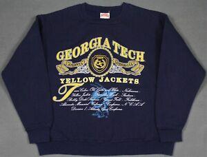 Georgia Tech Yellow Jacket Vintage 90's Nutmeg USA Crewneck Sweatshirt Large