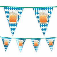 6m Plastic Bunting Beer Party Oktoberfest Bavarian Banner Garland Decoration