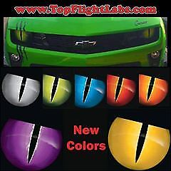 "2010-2013 Chevrolet Camaro 8"" Headlight Overlays Jason Brozak 2.0 Snake eyes"