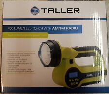 TALLER 400 Lumen LED Torch With AM/FM Radio