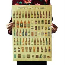 Enciclopedia birra bancone Counter Adornment Cucina Kraft Vintage Poster DB