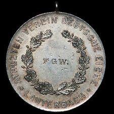 """OLYMPIADE & SPORT: Silber-Medaille. ATHLETEN VEREIN """"DEUTSCHE EICHE"""" LAUTERBACH."""