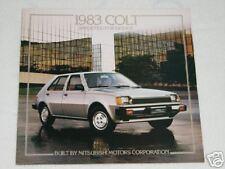1983 Dodge Colt Car Automobile Brochure Mitsubishi