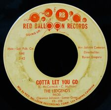 THE LEDGENDS-Gotta Let You Go+Something To Remember You By-Rare Soul-RED BALLOON