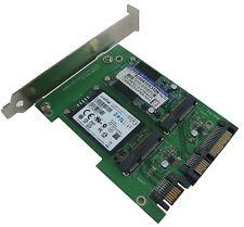 SATA III Dual Port to mSATA X 2 with PCI-e Bracket