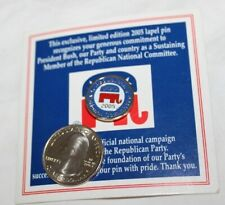 Republican National Committee Lapel Pin * 2005 * New On Card.