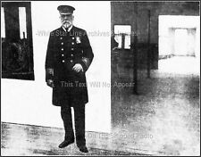 Photo: Ultra Rare - The  Only Known View Of Captain Smith On Titanic's Bridge
