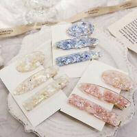 Korea Style Cute Resin Hairpins Geometric Transparent Hair Clip Hair Accessories