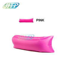 Pink Inflatable Lazy Air Bag Sofa Lounge Sleeping bag Camping Bed Outdoor Beach