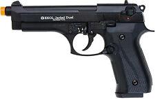 Ekol Jackal Dual Automatic Matte Black 9mm PAK Front Venting Prop Pistol Gun