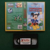 VHS Walt Disney TOPOLINO LUPO DI MARE (ITA 1994) VS 4461 Cartoon Classics