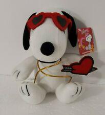 Whitmans Snoopy Plush Valentine Heart Glasses Whitman's Peanuts