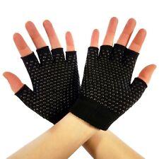 2 Pack Asana Socks Grip Gloves for Yoga, Pilates, Gym, Fitness - Black
