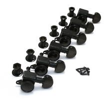 Grover Black 6 Inline Roto-Grip Mini Locking Guitar Tuners 505BC6