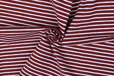 Baumwolljersey Streifen rot weiß gestreift Ringel Meterware maritim Kinderstoff