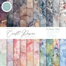 """Craft Consortium Double Sided Paper Pad 6""""X6"""" 40/Pkg Ink Drops  Dusk,"""