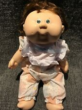 Cabbage Patch Doll Baby Girl Hard Material With Hair And Includes Jumper Outfit