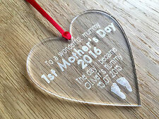Personalised 1st Father's Day Love Heart Keepsake Gift Present Daddy Dad Grandad