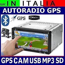"AUTORADIO NAVIGATORE GPS + RETRO CAMERA + MAPPA EUROPA 7""TOUCHSCREEN 2DIN USB SD"