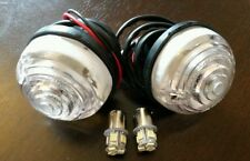 Front Clear Indicator Light/Lamp Gen Wipac x2 Amber LED Bulb Land Rover Series 3