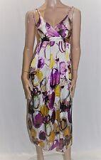 ONSTAGE Designer Purple Multi Print Maxi Dress Size 8 BNWT #SF07