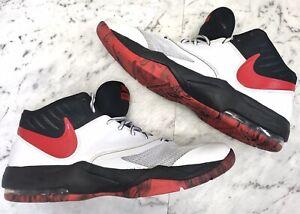 NIKE Air Max Emergent Men's White Black Red Basketball Shoes US 13 UK 12 EU 47.5