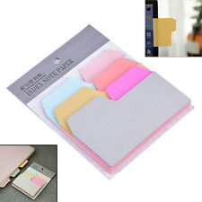 6 Colors Cute Notebook Note Index Paper Card Sticker Note Memo for School DT