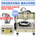 4 Axis 3040 USB CNC Router Engraving Ball Screws Milling Carving Machine 800W+RC