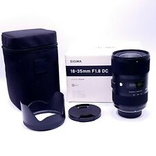 Sigma Art 18-35mm f/1.8 HSM DC f1.8 Lens for Nikon Mount #210-306
